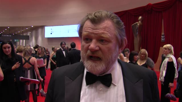 brendan gleeson on getting nominated, on his sons being nominated, on ireland and the irish film industry at the the irish film & television awards... - irish film and television awards stock videos & royalty-free footage
