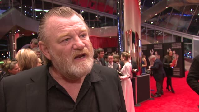 brendan gleeson on his nominations, the iftas and irish film industry at the iftas at convention centre dublin, ireland on february 11th 2012 - irish film and television awards stock videos & royalty-free footage