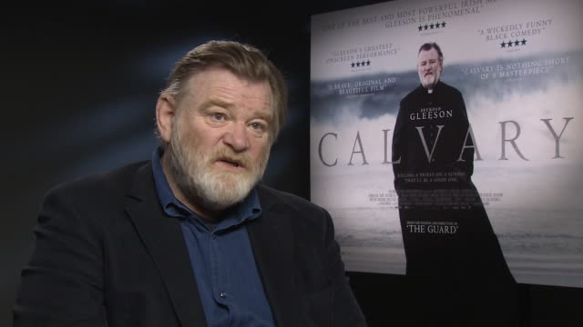 interview brendan gleeson on pedophilia and how it has affected society and how we interact at 'calvary' interviews on april 7 2014 in london england - pedophilia stock videos and b-roll footage