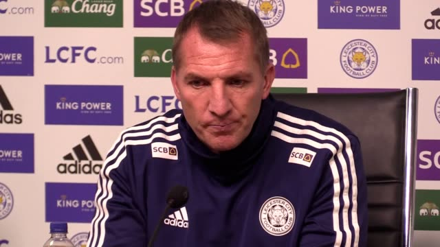 brendan rodgers previews leicester's premier league game with norwich, and discusses james maddison's future and the january transfer window. the... - ジェームズ・マディソン点の映像素材/bロール