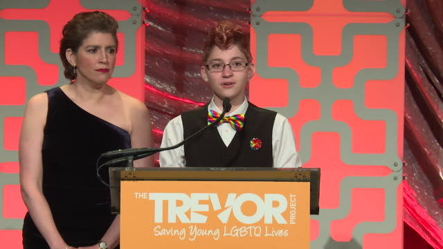 SPEECH Brendon Scholl speaks at The Trevor Project TrevorLIVE NY 2018 at Cipriani Wall Street on June 11 2018 in New York City