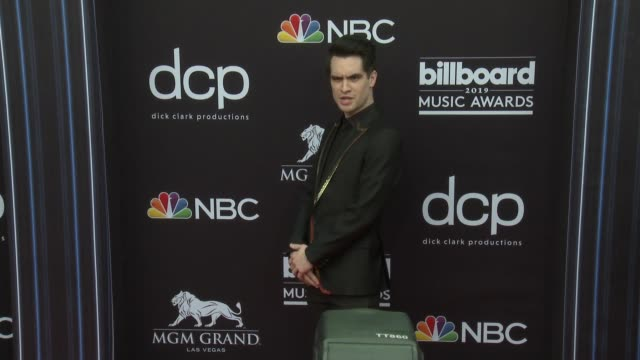 brendon urie at the 2019 billboard music awards at mgm grand garden arena on may 1 2019 in las vegas nevada - mgm grand garden arena stock videos & royalty-free footage