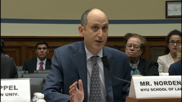 brennan center for justice democracy program deputy director larry norden tells members of a house oversight and government reform subcommittee that... - e mail点の映像素材/bロール
