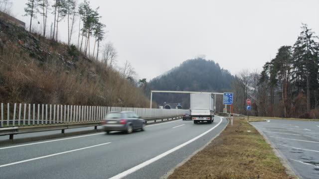 brenner autobahn leading to italy - brenner pass stock videos and b-roll footage