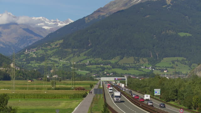 brenner highway in the wipptal near sterzing (vipiteno) in south tyrol - brennero stock videos and b-roll footage