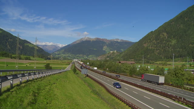 t/l brenner highway in the wipptal near sterzing (vipiteno) in south tyrol - brennero stock videos and b-roll footage