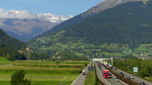 brennerautobahn through wipp valley in south tyrol - brennero stock videos and b-roll footage