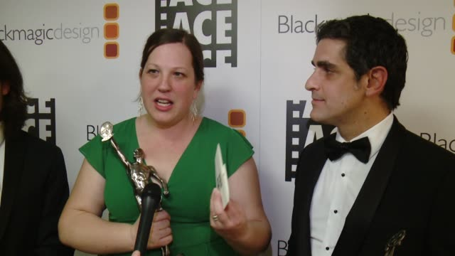 INTERVIEW Bret Granato Maya Mumma Ben Sozanski on their ACE Eddie win at 67th Annual ACE Eddie Awards in Los Angeles CA