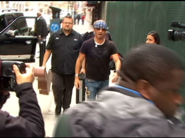 bret michaels poses for photographers as he arrives at the 'gayle king show' in new york 04/12/11 - gayle king stock videos & royalty-free footage