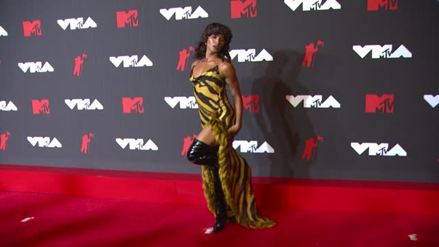 bretman rockarrives at the 2021 mtv video music awards at barclays center on september 12, 2021 in the brooklyn borough of new york city. - mtv video music awards stock videos & royalty-free footage