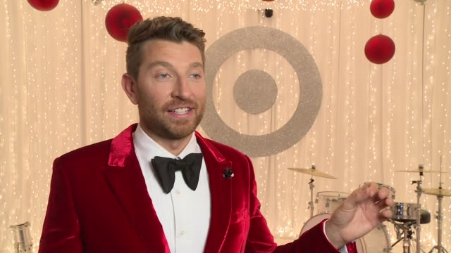 interview brett eldredge talks about recording his christmas album stock footage video getty images