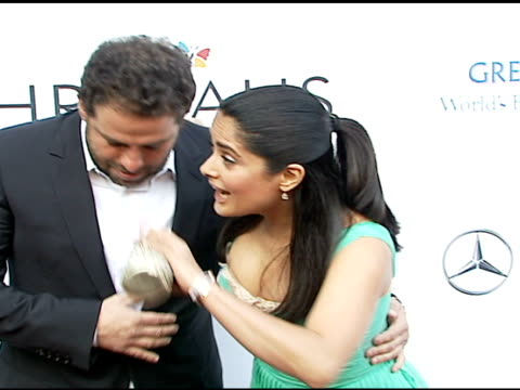 brett ratner and salma hayek at the chrysalis' fifth annual butterfly ball at private residence in bel air california on june 10 2006 - salma hayek stock videos and b-roll footage