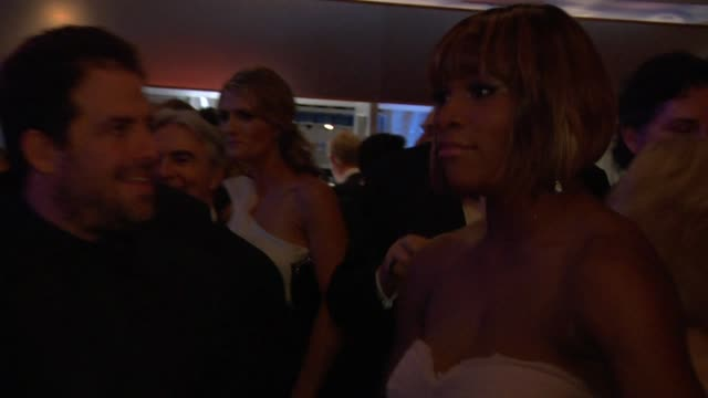 brett ratner and serena williams at the inside the vanity fair oscar party 2010 at west hollywood ca - oscar party stock videos & royalty-free footage