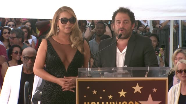 speech brett ratner at mariah carey honored with star on the hollywood walk of fame on august 05 2015 in hollywood california - mariah carey stock videos and b-roll footage