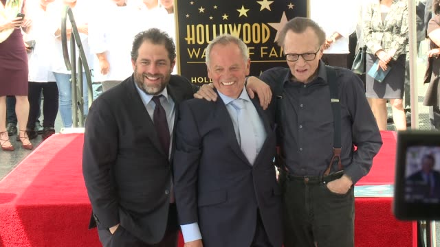 brett ratner, wolfgang puck & larry king at wolfgang puck honored with star on the hollywood walk of fame at hollywood walk of fame on april 26, 2017... - wolfgang puck stock videos & royalty-free footage