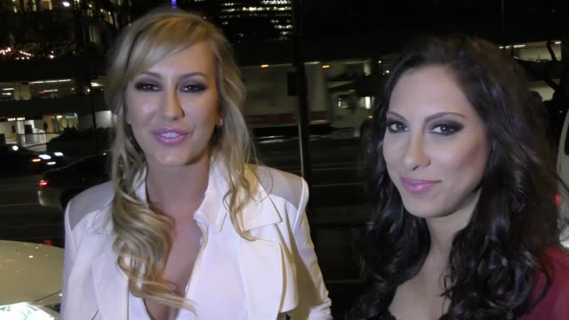 INTERVIEW Brett Rossi Leila Knight talk about going from doing porn to stand up comedy outside the Xbiz Awards at Bonaventure Hotel in Los Angeles in...