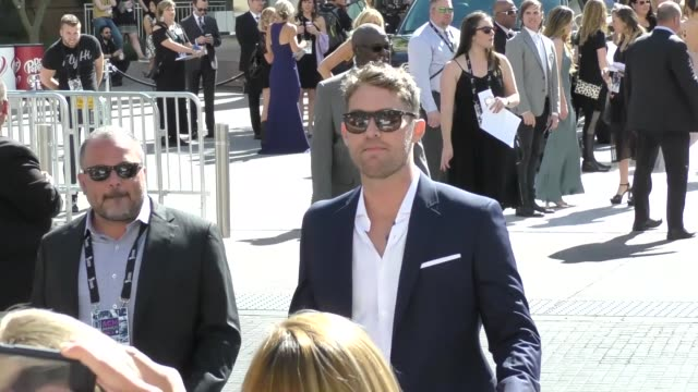brett young arriving to the 52nd academy of country music awards in celebrity sightings in las vegas - academy of country music awards stock videos & royalty-free footage