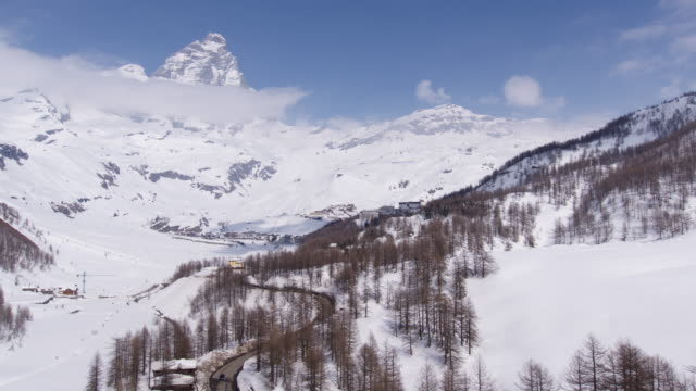 breuil-cervinia in valle d'aosta - italy - snowcapped mountain stock videos and b-roll footage