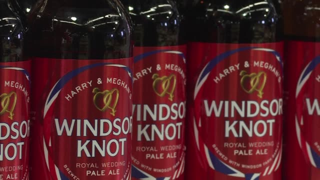 a brewery in windsor the british town where prince harry will marry american meghan markle in may believes it has concocted its own perfect pairing... - windsor england stock videos & royalty-free footage
