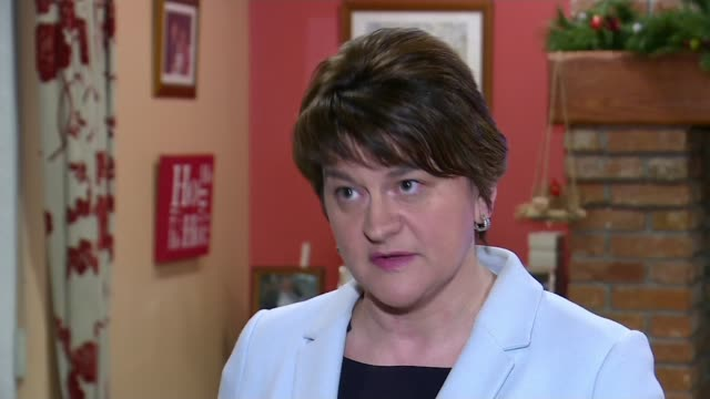 Agreement after Phase 1 of negotiations NORTHERN IRELAND Belfast Arlene Foster MLA down steps with party members Arlene Foster MLA interview SOT its...