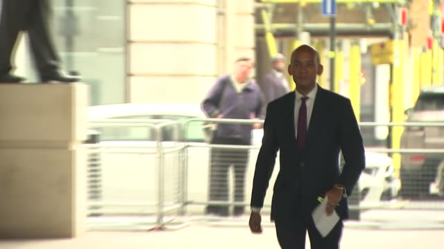 andrew marr show arrivals and departures england london bbc broadcasting house ext vince cable mp arrival / chuka umunna mp arrival / rory stewart mp... - andrew marr stock videos & royalty-free footage