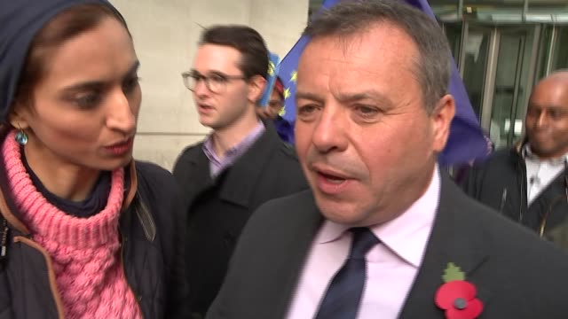 arron banks under pressure to explain source of donation to unofficial brexit campaign england london new bbc broadcasting house ext arron banks and... - artificial stock videos & royalty-free footage