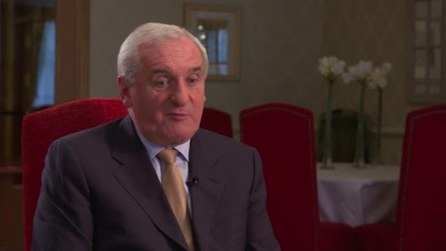 bertie ahern interview republic of ireland dublin int bertie ahern interview sot - bertie ahern stock videos and b-roll footage