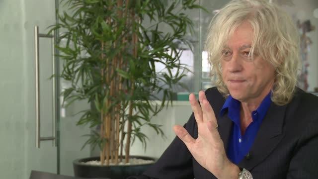 bob geldof interview england london int bob geldof interview sot - bob geldof stock videos & royalty-free footage