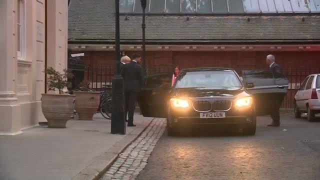 boris johnson and david davis resign / cabinet reshuffle; uk, london, carlton gardens: boris johnson leaving house and into car following... - david m. davis politician stock videos & royalty-free footage