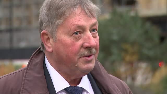 boris johnson and ursula von der leyen hold last ditch talks to reach trade agreement; england: london: westminster: ext sammy wilson mp interview... - messy stock videos & royalty-free footage