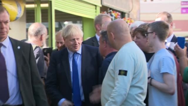 boris johnson 'cautiously optimistic' despite criticism uk england south yorkshire doncaster and rotherham various shots of boris johnson mp touring... - claw stock videos & royalty-free footage