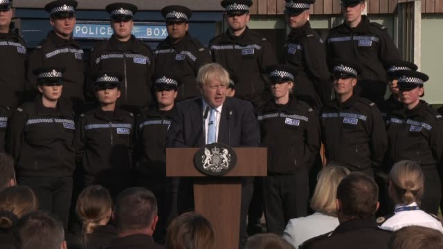 boris johnson speech in wakefield; england: west yorkshire: wakefield: ext boris johnson mp speech sot part 2 of 2 - west yorkshire stock videos & royalty-free footage