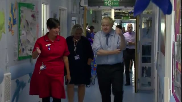 Boris Johnson writes to Donald Tusk / Jeremy Corbyn reveals plans for general election ENGLAND Cornwall Truro Royal Cornwall Hospital INT Boris...