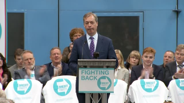 brexit party launch nigel farage speech england west midlands coventry int nigel farage mep speech sot at the launch of the brexit party - nigel farage stock videos & royalty-free footage
