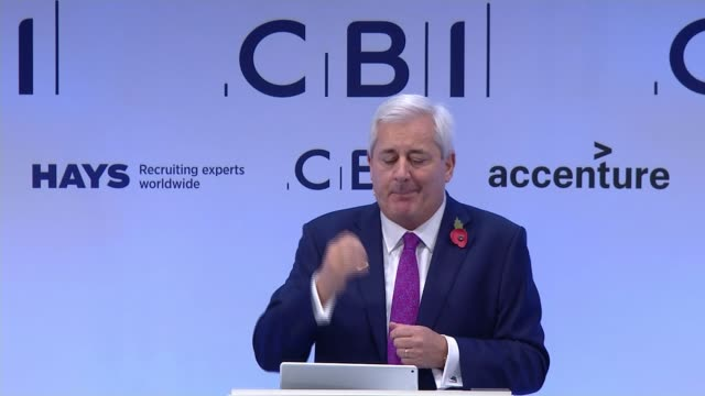 business concerns about 'no deal' brexit; cbi conference: int paul drechsler speech sot - we need a clear single strategy and plan/ at the moment i'm... - soap opera stock videos & royalty-free footage