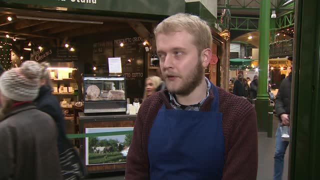 business groups are calling for clarity on trading terms after january; england: int matthew hunt interview via internet sot london: borough market:... - slice stock videos & royalty-free footage