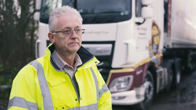 businesses and hauliers struggling in face of uncertainty; england: kent: ext norman ives setup shots as inspecting and refuelling lorry and... - refuelling stock videos & royalty-free footage