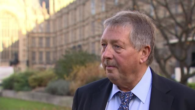 Cabinet arrives at Downing Street to discuss draft withdrawal plan ENGLAND London Westminster EXT Sammy Wilson MP interview SOT Lord Heseltine setup...