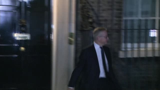 cabinet backs theresa may's draft withdrawal agreement england london downing street photography** michael gove mp departing number 10 liam fox mp... - liam fox politician stock videos and b-roll footage