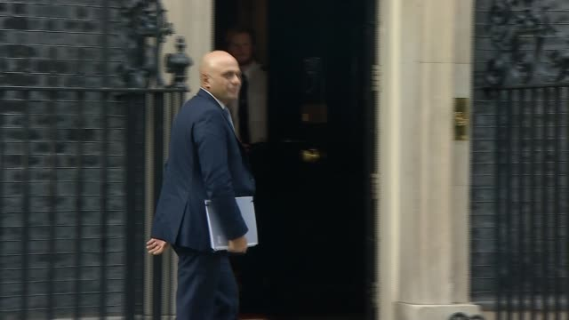 cabinet backs theresa may's draft withdrawal agreement england london downing street ext david mundell mp arriving at number 10 / david lidington mp... - baroness stock videos & royalty-free footage