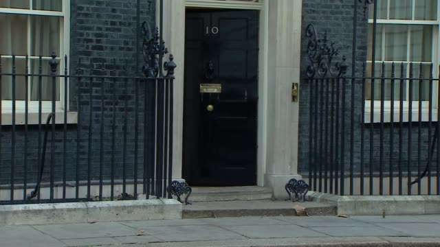 cabinet convenes at downing street in the wake of government defeat in the commons england london downing street ext cabinet members along to /... - damian hinds stock videos and b-roll footage