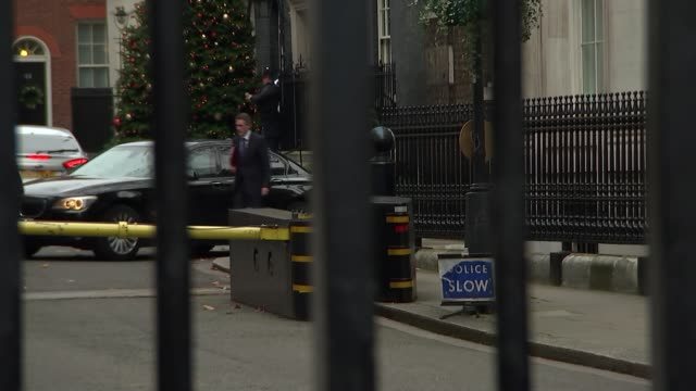 cabinet departures at downing street gates england london whitehall ext kwasi kwarteng mp arriving / robin walker mp departing as ignoring questions... - damian hinds stock videos and b-roll footage