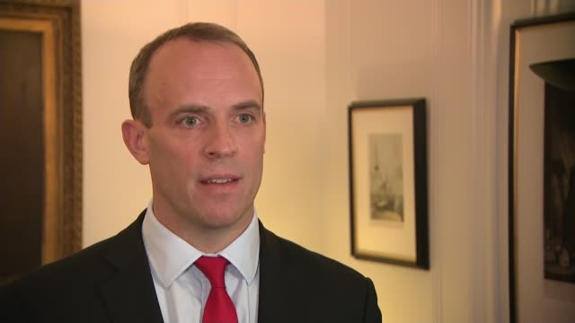 cabinet meet to discuss chequers plan; england: london: int dominic raab mp interview sot - we're ready to make a success of brexit regardless of the... - david m. davis politician stock videos & royalty-free footage