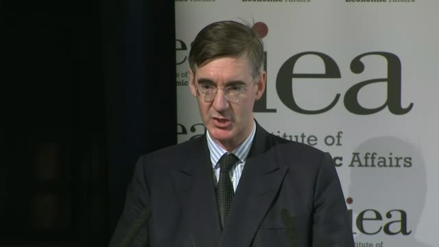 Cabinet meet to discuss Chequers Plan UK London Institute of Economic Affairs Jacob ReesMogg MP press conference / Plan A press conference ENGLAND...