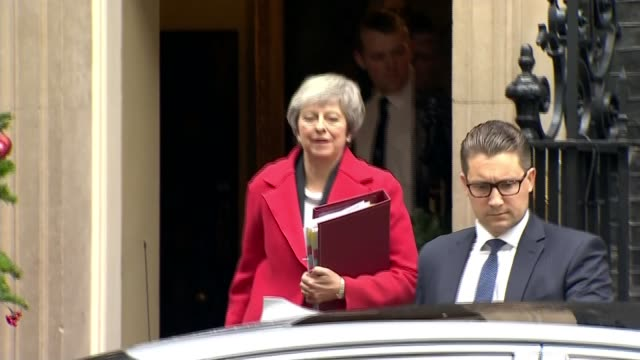 Commons debate on Brexit deal continues / government hand over Brexit legal advice to parliament ENGLAND London Downing Street EXT Theresa May MP...