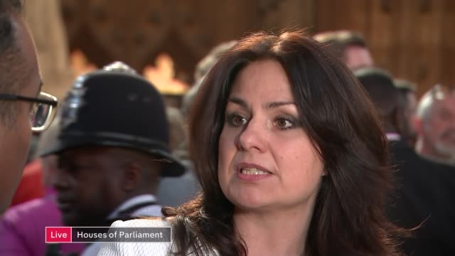 commons vote on eu withdrawal agreement channel 4 news special live england london house of commons lobby int heidi allen mp and nadhim zahawi mp... - heidi allen stock videos & royalty-free footage