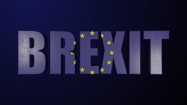 Brexit concept with EU European Union flag