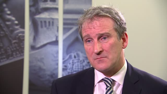 damian hinds interview england london int damian hinds mp interview sot on brexit developments - damian hinds stock videos and b-roll footage