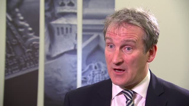 damian hinds interview england london int damian hinds mp interview sot on cheating in exams / brexit developments - damian hinds stock videos and b-roll footage