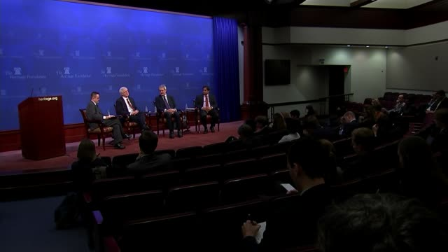 david davis and owen paterson at the heritage foundation event usa int various of david davis mp and owen paterson mp speaking at the heritage... - owen paterson stock videos and b-roll footage
